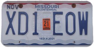 Vehicle registration plates of Missouri Missouri vehicle license plates