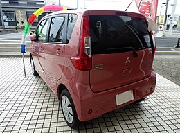 Mitsubishi eK wagon M e-Assist Plus Edition (DBA-B11W) rear.jpg