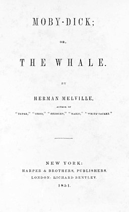 Moby-Dick FE title page