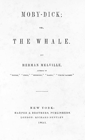 Title page of the first edition of Moby-Dick, ...