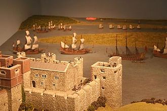 Scale model - Model ships and castle