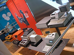 Various types of cash registers in a computer ...