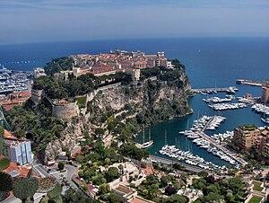 Outline of Monaco - View of the Rock of Monaco