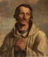 Monk-pilgrim, Wincenty Kadłubek by Aleksander Lesser.PNG