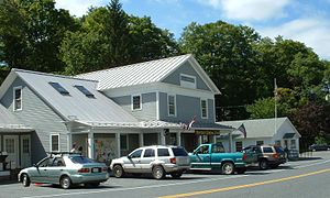 Monterey, Massachusetts - Monterey General Store, with the post office to the right