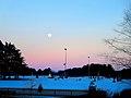 Moonrise over Saint Francis Xavier Cemetery - panoramio.jpg