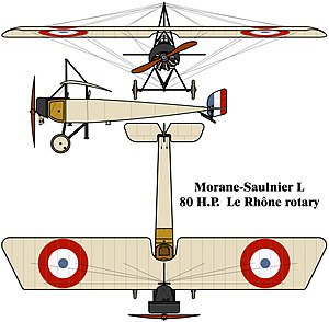 Y Sap mine - Image: Morane Saulnier L drawing
