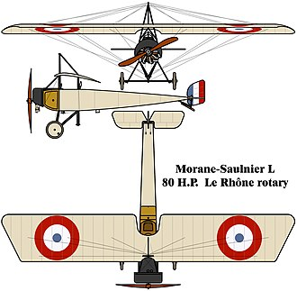 Capture of La Boisselle - Image: Morane Saulnier L drawing
