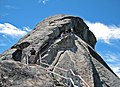 Moro Rock exfoliation dome (Giant Forest Granodiorite, mid-Cretaceous, 97-102 Ma; Sequoia National Park, California, USA) 3 (16799537885).jpg