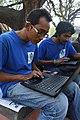 Motiur Rahman Oni & Rafaell Russell at Wikipedia 15 good article edit-a-thon and adda, Chittagong 1 (03).jpg