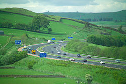 Die M6 im Lune Valley in Cumbria