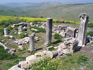Arbel - Remains of the ancient synagogue