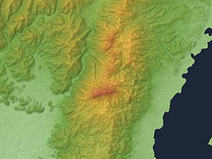 Mount Hiei - Relief Map of Mount Hiei