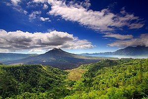 Mount Batur - Mount Batur and lake