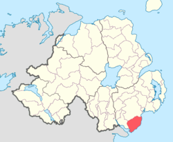 Location of Mourne, County Down, Northern Ireland.