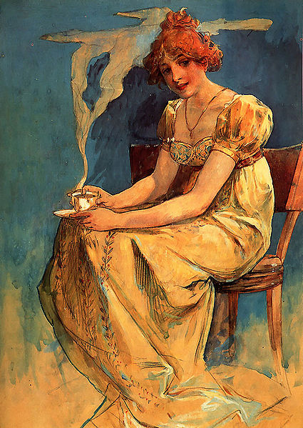 File:Mucha-Untitled (seated woman with coffee cup, watercolor).jpg