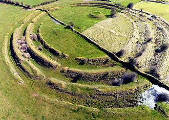 Ringfort - Image: Multivallate Ringfort at Rathrar (Rathbarna Enclosure Complex), Co Roscommon, Ireland