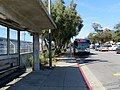 Muni route 28 bus laying over at Daly City station, June 2018.JPG