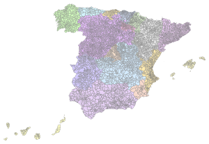 Municipalities of Spain.svg