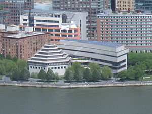 Museum of Jewish Heritage - Aerial view of the Museum of Jewish Heritage