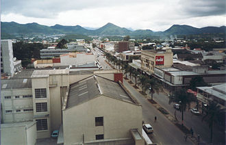 Mutare - Aerial view of Central Mutare (2001)