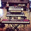 My sweet keyboard rig for Kimmel - Roland GAIA, DSI Prophet '08, Nord Stage 2 (2013-06-19 by Mike Schmid).jpg