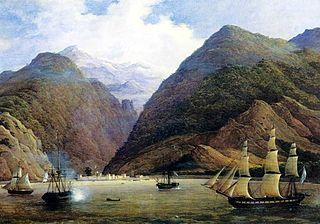 Die Festung Gagra auf einem Bild des Malers Nikanor Tschernezow (1805-1879)