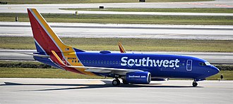 Palm Beach International Airport - Southwest Airlines Boeing 737 at PBI