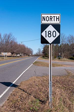 North Carolina Highway 180 - NC 180, heading north towards PattersonSprings
