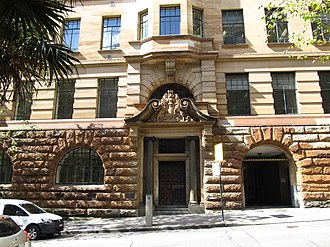 Department of Education building - Image: NSW Dept Education Building west side Loftus Street