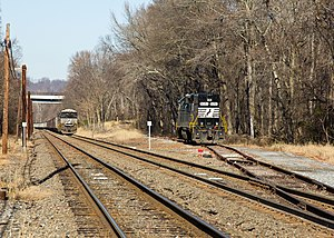 Columbia and Port Deposit Railroad - A Norfolk Southern coal train on the Port Road Branch in Perryville, Maryland