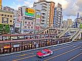 中央奥右側の「クオーレ」とある建物がホテルクオーレ長崎駅前