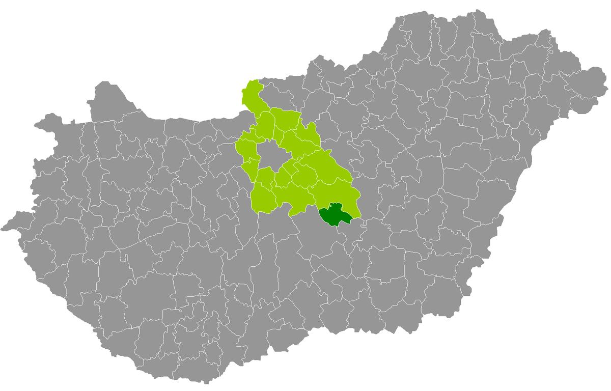 nagykőrös térkép Nagykőrös District   Wikipedia nagykőrös térkép