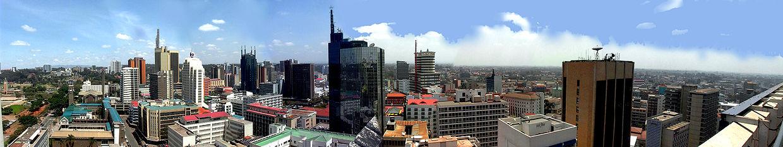 El centro de Nairobi, a vista de pájaro.