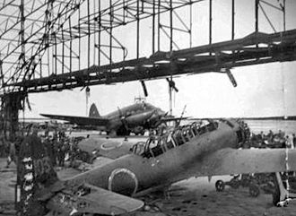 North Field (Tinian) - Nakajima C6N-1 reconnaissance aircraft of the 121st Kokutai after being captured on Tinian, July 1944