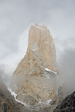 Central Karakoram National Park - The Trango Towers offer some of the largest cliffs and most challenging rock climbing in the world.