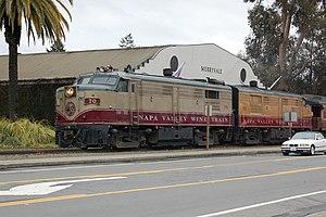 Napa Valley Wine Train - Image: Napa Valley Wine Train 70