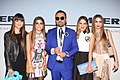 Napoleon Perdis with his daughters at Myer Fashion Spring Launch 2015 (20513818736).jpg