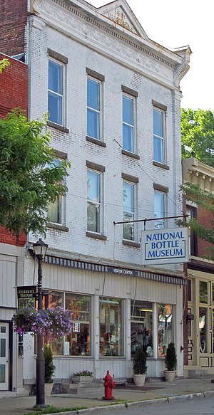 National Bottle Museum - Museum building on Main Street in Ballston Spa
