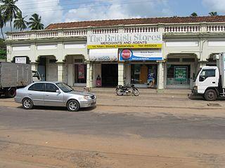 Nattandiya Town in North Western Province, Sri Lanka