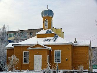 Islam in Belarus - Mosque in Navahrudak.