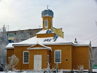 Lipka Tatars - Tatar mosque in the city Navahrudak, Belarus