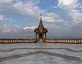 Naypyidaw -- Uppatasanti Pagoda plaza shrine.JPG