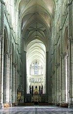 Nave and choir of the cathedral Notre-Dame in Amiens, France