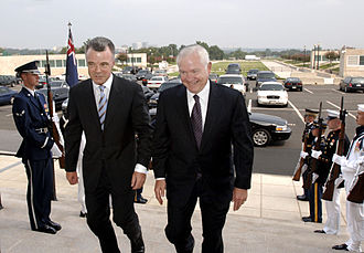 Brendan Nelson - Nelson with Robert Gates in August 2007