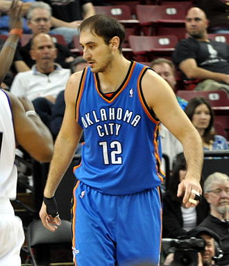 Nenad Krstić - Krstić with the Thunder in March 2010.