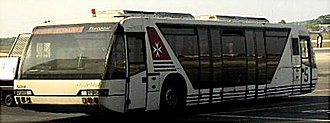 Airport bus - A Neoplan airside transfer bus in Malta