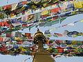 Nepal - Kathmandu - 007 - Prayer flags over Swayambunath (Monkey) Temple (492187764).jpg