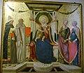 Neri di bicci, madonna col bambino e isanti ludovico, benedetto, apollonia e caterina.JPG
