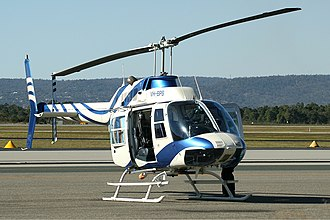 NEW (TV station) - Bell 206 of NEW at Perth Airport (2006).